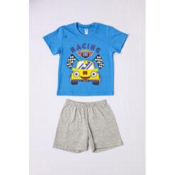 """Σετ πιτζάμες με κοντομάνικη μπλούζα και σορτσάκι """"Racing 85"""""""
