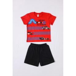 """Σετ πιτζάμες με κοντομάνικη μπλούζα και σορτσάκι """"Super Race"""""""
