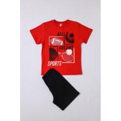 """Σετ πιτζάμες με κοντομάνικη μπλούζα και σορτσάκι """"All Dreams Sports"""""""