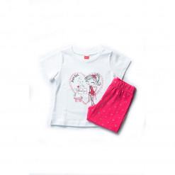 """Σετ κοντομάνικη μπλούζα με κολάν """"Love u puppy"""""""
