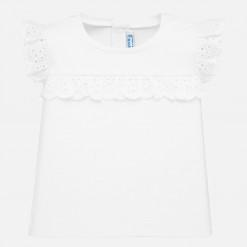 """Μπλούζα αμάνικη με δαντέλα στα μανίκια """"Baby lace"""""""