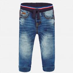 """Παντελόνι τζιν με λάστιχο στην μέση και στα μπατζάκια """"Baby jogger"""""""