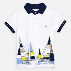 """Μπλούζα κοντομάνικη πολο """"Sailing"""""""