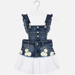 """Φούστα σαλοπέτα τζιν με τελείωμα κιπούρ """"Daisies"""""""