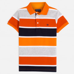 """Μπλούζα κοντομάνικη ριγέ πόλο """"Orange polo"""""""