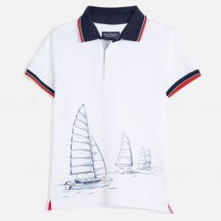 """Μπλούζα κοντομάνικη πόλο """"Sailing"""""""