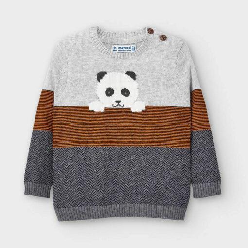 """Μπλούζα μακρυμάνικη πλεκτή """"Panda"""""""