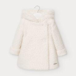 Παλτό χοντρό με κουκούλα και κουμπιά