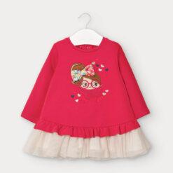 """Φόρεμα φούτερ μακρυμάνικο με τούλι """"Φιόγκος"""""""