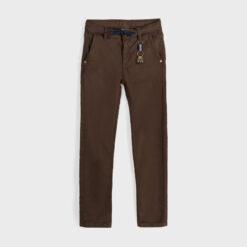 """Παντελόνι πεντάτσεπο ελαστικό στη μέση """"Brown"""""""
