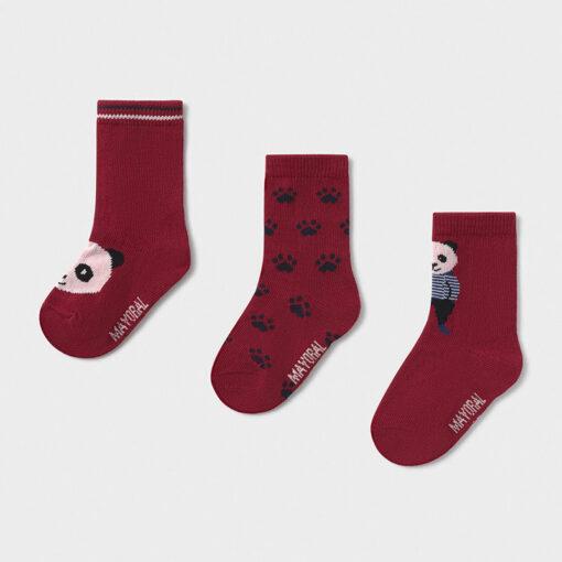 """Σετ τρεις κάλτσες """"Panda"""""""