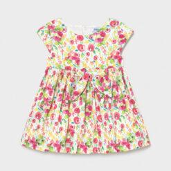"""Φόρεμα με φιόγκο στην μέση """"Λουλούδια"""""""