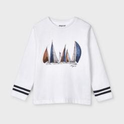 """Μπλούζα μακρυμάνικη """"Πλοία"""""""