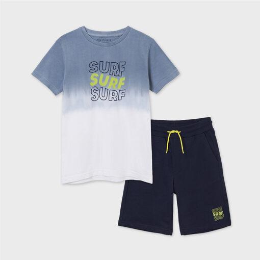 """Σετ κοντομάνικη μπλούζα με βερμούδα """"Surf Surf Surf"""""""