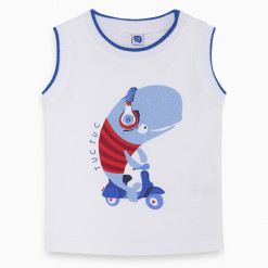 """Αμάνικη μπλούζα """"Liitle whale on bike"""""""