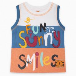 """Αμάνικη μπλούζα """"Fun sunny smiles"""""""