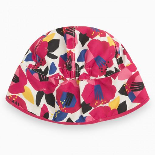 """Καπέλο με προστασία για τον ήλιο και διάφανη θήκη """"Flowers """""""